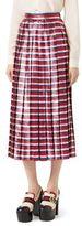 Gucci Metallic Striped Skirt