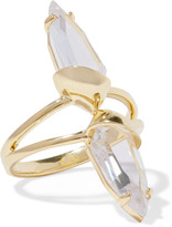 Noir Gold-tone crystal ring