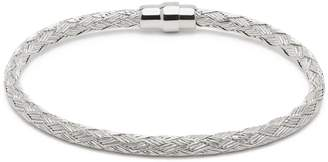Durrah Jewelry Silver Woven Bracelet For Her