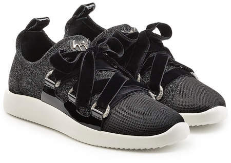 Giuseppe Zanotti Fabric Sneakers with Velvet Laces