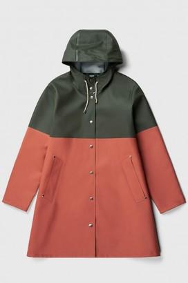 Stutterheim Mosebacke Womens Blocked Green Raincoat - XXS