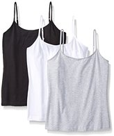 St. Eve Women's 3 Pack Cotton Spandex Cami Tank