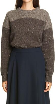 PARTOW King Melange Colorblock Wool & Cashmere Sweater