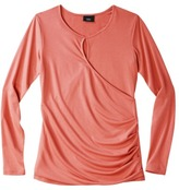 Mossimo Women's Long Sleeve Knit Top with Keyhole Front - Assorted Colors