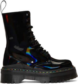 Dr. Martens Black Rainbow Oil Slick Jadon Hi Boots