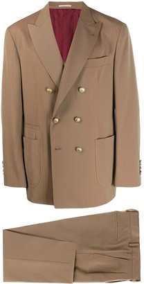 Brunello Cucinelli Two-Piece Striped Herringbone Suit