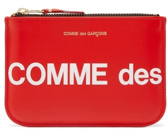 Comme des Garcons Logo-print Leather Pouch - Red