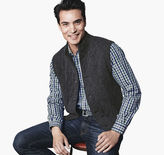 Johnston & Murphy Quilted Sweater Vest