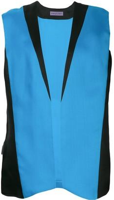 Emanuel Ungaro Pre Owned Two Tone Sleeveless Jacket