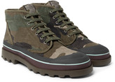 Valentino - Camouflage-print Canvas Boots
