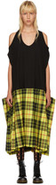 Junya Watanabe Black & Yellow Tartan Tank Dress