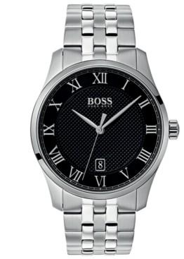 BOSS Hugo Men's Master Stainless Steel Bracelet Watch 41mm
