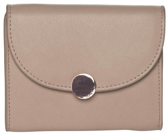 Mocha Brianna Leather Coin Wallet Taupe