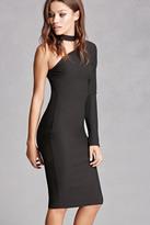 Forever 21 FOREVER 21+ One-Shoulder Choker Neck Dress