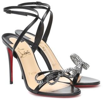 Christian Louboutin Jewel Queen 100 embellished leather sandals