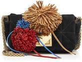 Sonia Rykiel Le Copain Suede Shoulder Bag with Pompoms