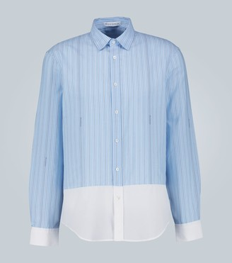 J.W.Anderson Striped shirt with woven logo