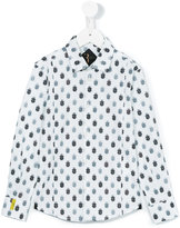 Billionaire Kids - logo print shirt - kids - Cotton/Nylon/Spandex/Elastane - 4 yrs