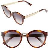 Jimmy Choo Women's 'Pepys' 50Mm Retro Sunglasses - Havana