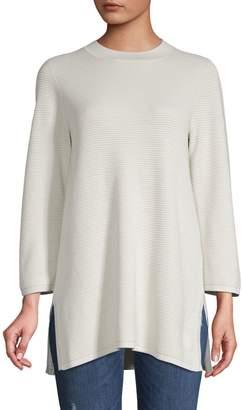 Eileen Fisher Textured Silk Cotton-Blend Tunic
