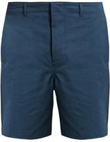 Fanmail Contrast-panel slim-fit cotton shorts