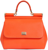 Dolce & Gabbana Medium Sicily Dauphine Leather Bag