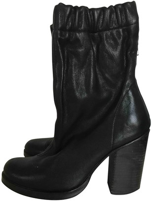 Opening Ceremony Black Leather Boots