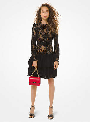 MICHAEL Michael Kors Floral Lace Ruffle Dress