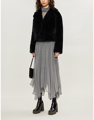 Stand Janet cropped faux-fur coat