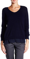 Vince Wool & Cashmere Blend Long Sleeve V-Neck Pullover