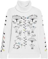 Peter Pilotto Berry intarsia angora-blend turtleneck sweater