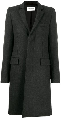Saint Laurent Single Breasted Fitted Coat