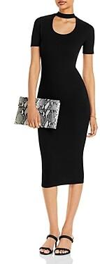 Aqua Neck Cutout Midi Dress - 100% Exclusive