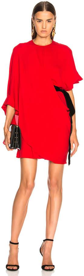 Valentino Side Tie Draped Mini Dress