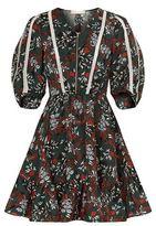 Maje Rubix Printed Zip Front Dress