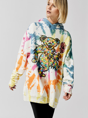 MadeWorn Grateful Dead Dancing Bear Tie-Dye Oversized Hoodie