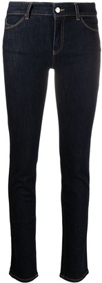 Emporio Armani High-Rise Skinny-Cut Cotton Jeans