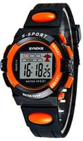 YJLHCYGG Waterproof Digital Outdoor Sports Watches For Age 5-15 Years Old Boys Girls Kids Watches ,Orange
