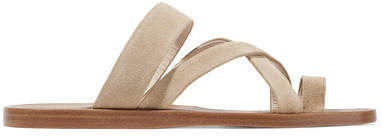 Common Projects Suede Sandals - Beige