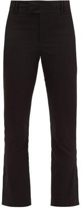 Isabel Marant Lovida Slit-cuff Cotton-blend Slim-leg Trousers - Womens - Black