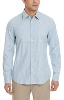 G Star Men's Core Stripe Long Sleeve Button-Up Shirt In Back