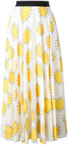 Christopher Kane printed sun pleated skirt - women - Polyester - 38