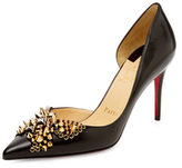 Christian Louboutin Farfaclou Spiked Leather D'Orsay Pump