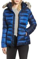 The North Face Gotham II Hooded Water Resistant 550-Fill-Power Down Jacket with Faux Fur Trim