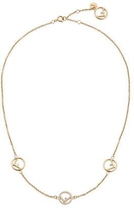 Fendi Short Logo Charm Necklace