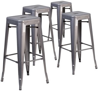 "Trent Austin Designâ® Jerome Backless Bar & Counter Stool Trent Austin DesignA Seat Height: Bar Stool (30"" Seat Height), Pack Size: 4"