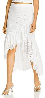 Aqua Eyelet Midi Skirt - 100% Exclusive