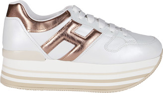 Hogan White Leather Maxi H222 Sneakers