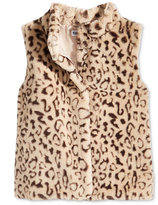 Epic Threads Faux Fur Leopard Vest, Big Girls (7-16), Created for Macy's