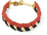 Lulu Frost G. Frost X Michael Bastian - Herringbone Woven Bracelet Red